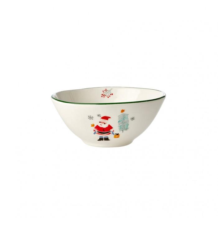 Scodella in ceramica Babbo Natale - Rice dk