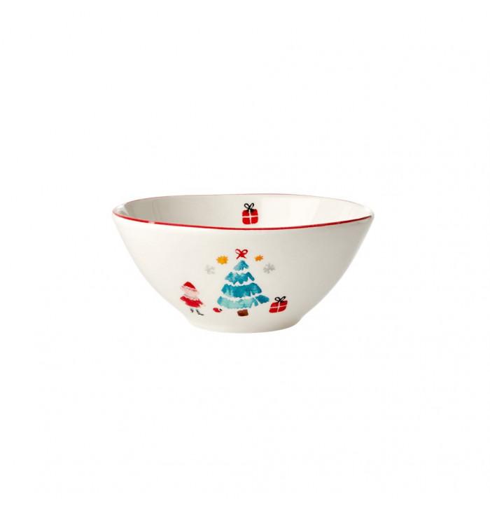 Scodella in ceramica Albero di Natale  - Rice dk
