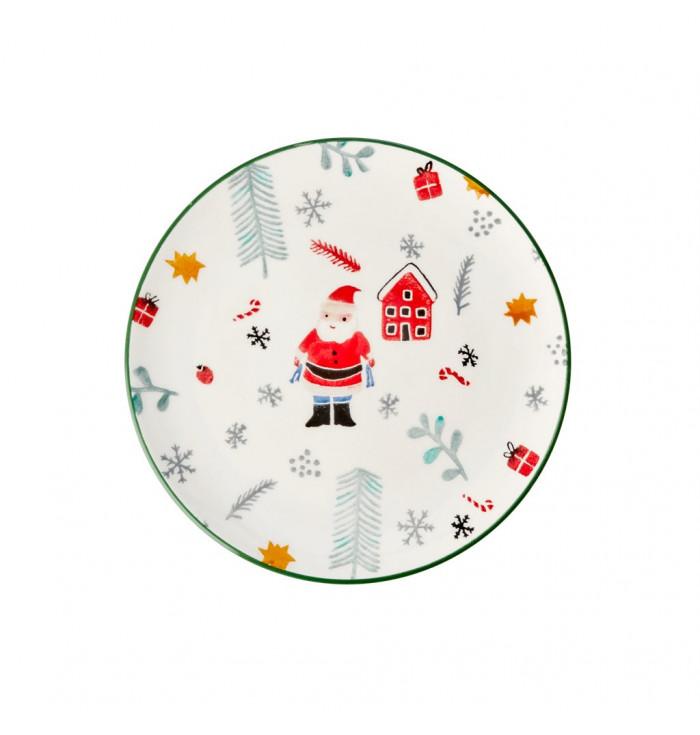 CERAMIC Plate Santa Claus - Rice dk