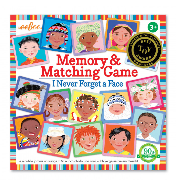 I Never Forget a Face Matching & Memory Game - Eeboo