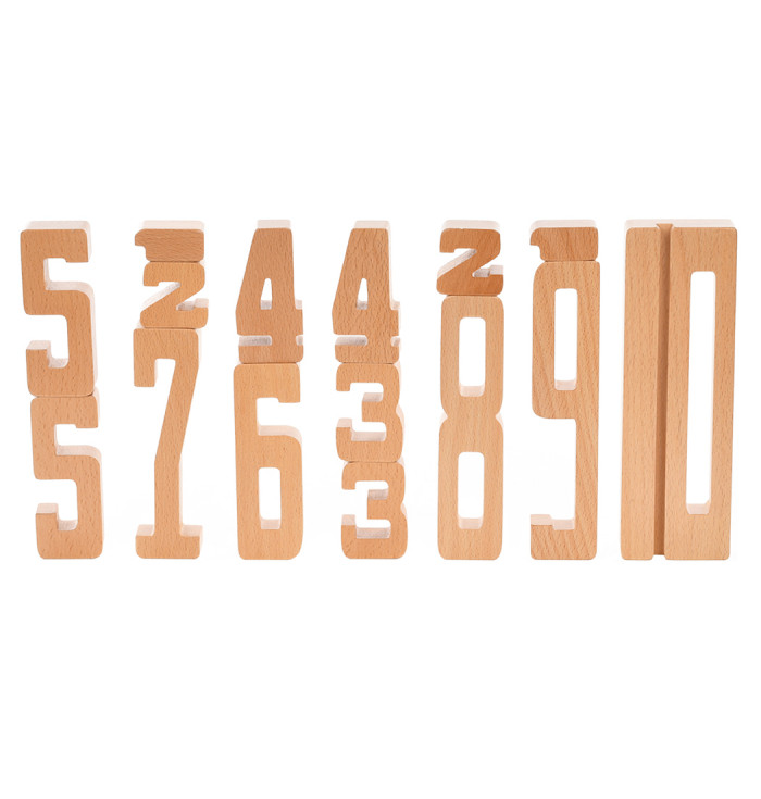 Wooden numbers - Astrup