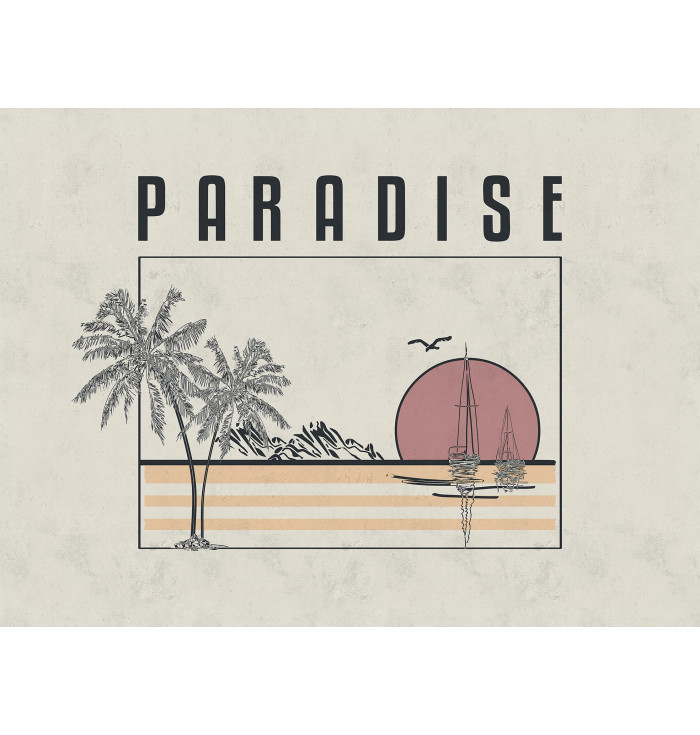 Pannello in carta da parati Paradise - Cordonné