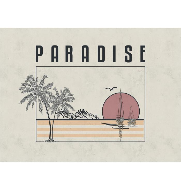 Wallpaper panel Paradise - Cordonné