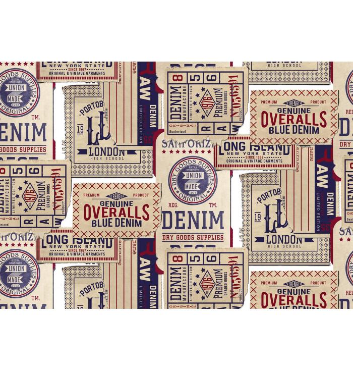 Wallpaper panel Tickets - Cordonné