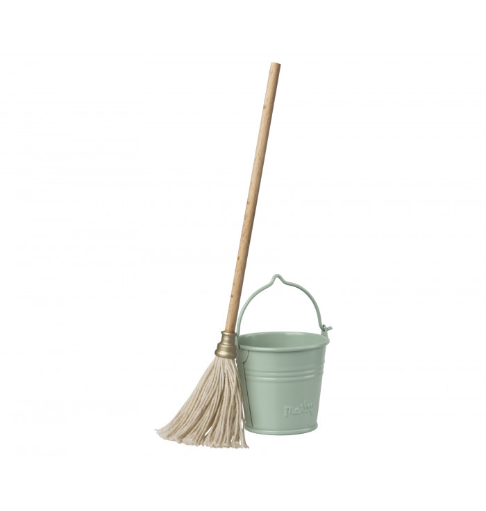 Bucket and mop - Maileg