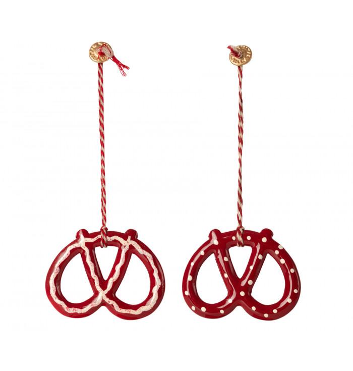 Metal ornament 2 Pretzel- Maileg