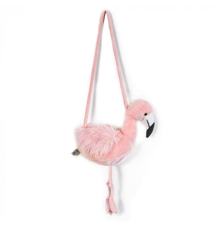 Borsetta peluche flamingo - Wild & Soft