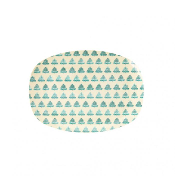 Piatto rettangolare Christmas tree - Rice DK