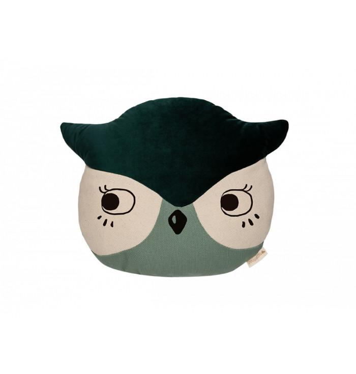 Velvet Owl Pillow - Nobodinoz