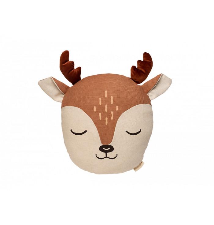 Velvet Deer Pillow - Nobodinoz