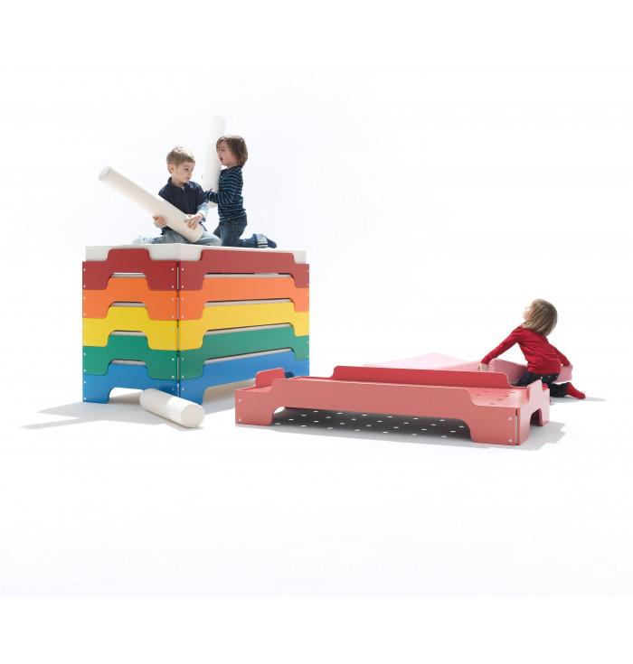 Bed Stapelliege Kids BLUE - Muller Mobelwerkstatten - expo