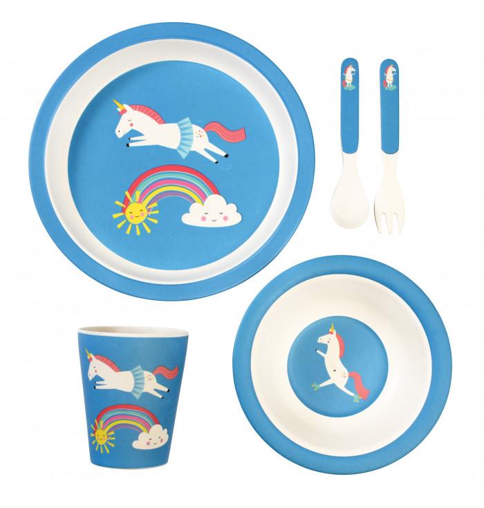 Unicorn BAMBOO TABLEWARE (SET OF 5)