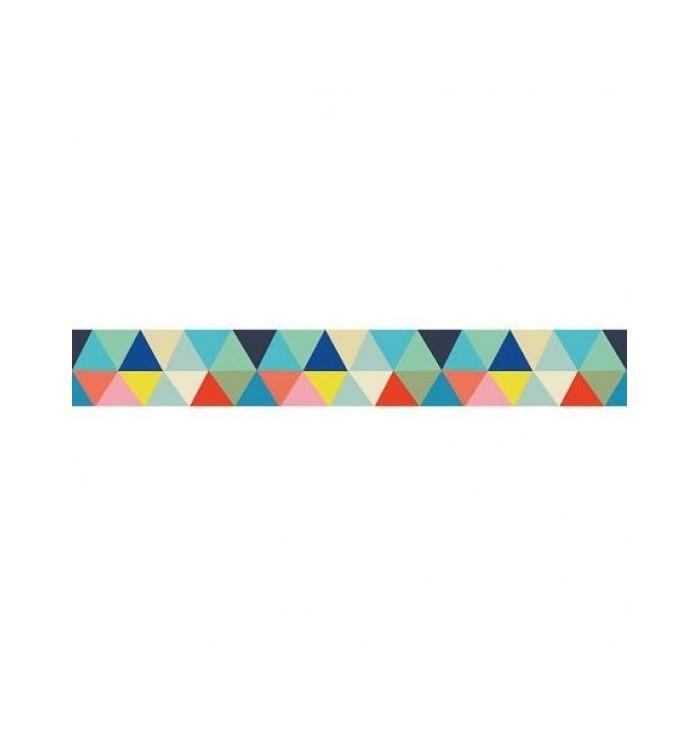 Bordo sticker fantasia geometrica - Triangoli - Lilipinso