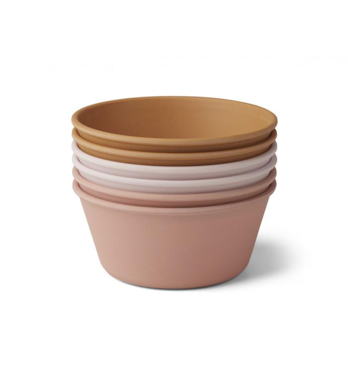 Greta bamboo bowl 6 pack - Liewood