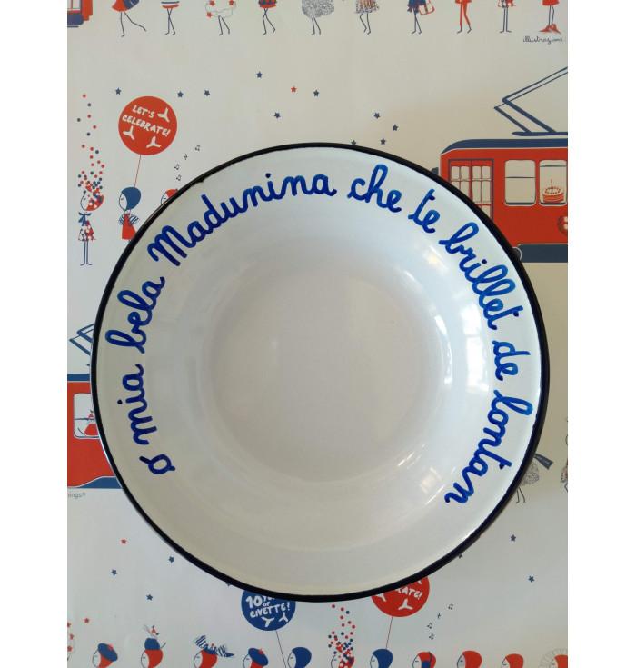 """Piatto smaltato """"capsule collection"""" - O mia bela Madunina"""
