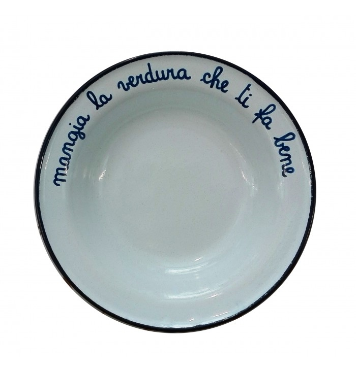 Enamelled plates with inscriptions - Alt Means Old