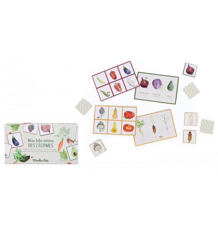 Lotto-Memo delle verdure - Le Jardin - Moulin Roty