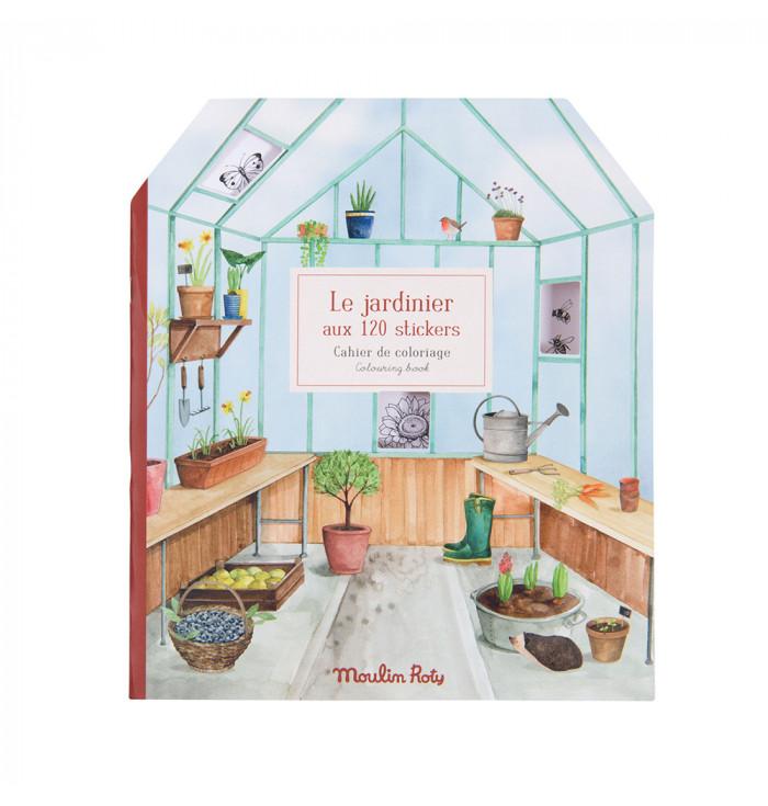 Album da colorare con stickers - Le Jardin - Moulin Roty