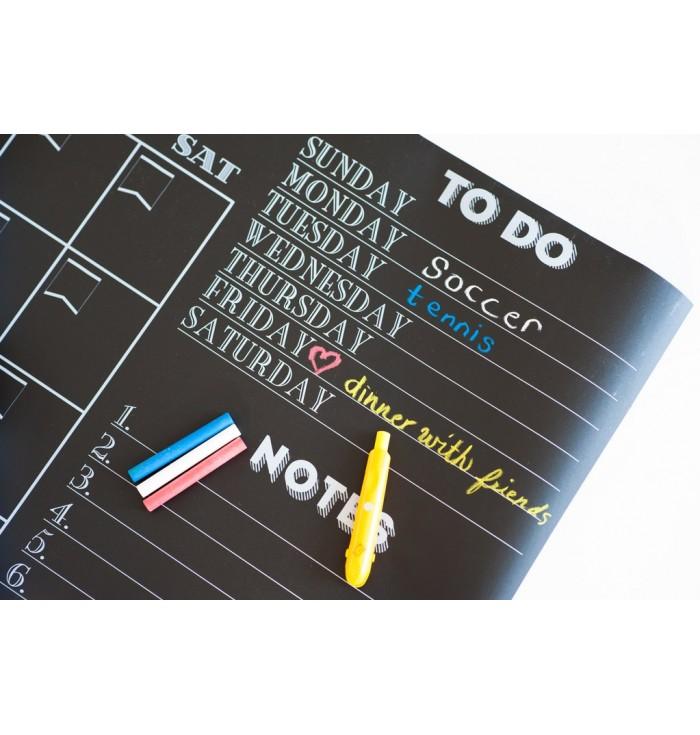 Calendario da Muro Effetto Lavagna - Nero