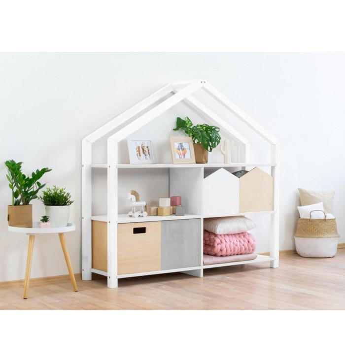 Wooden House Shelf Shelly - Benlemi
