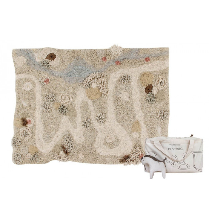 Washable play rug Path of Nature - Lorena Canals