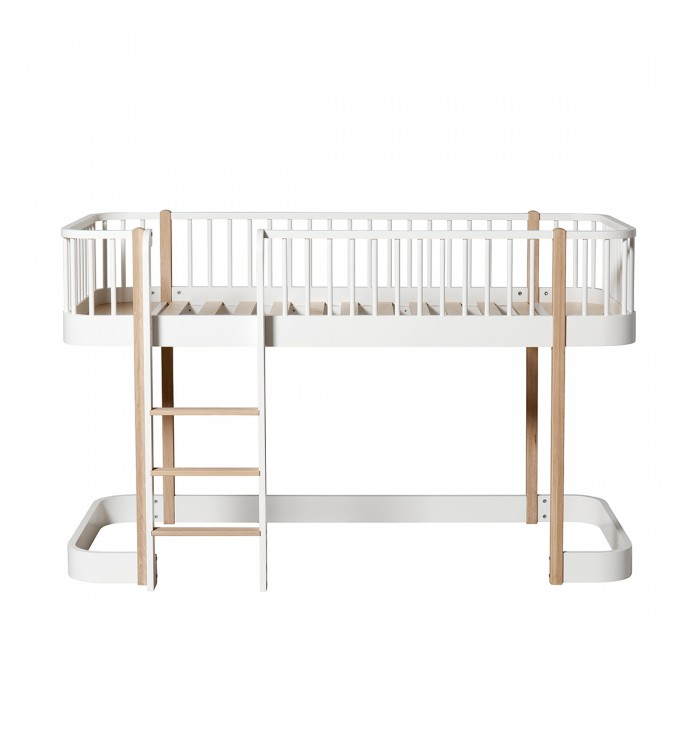 Letto a soppalco Wood - Low Loft Bed - Oliver Furniture