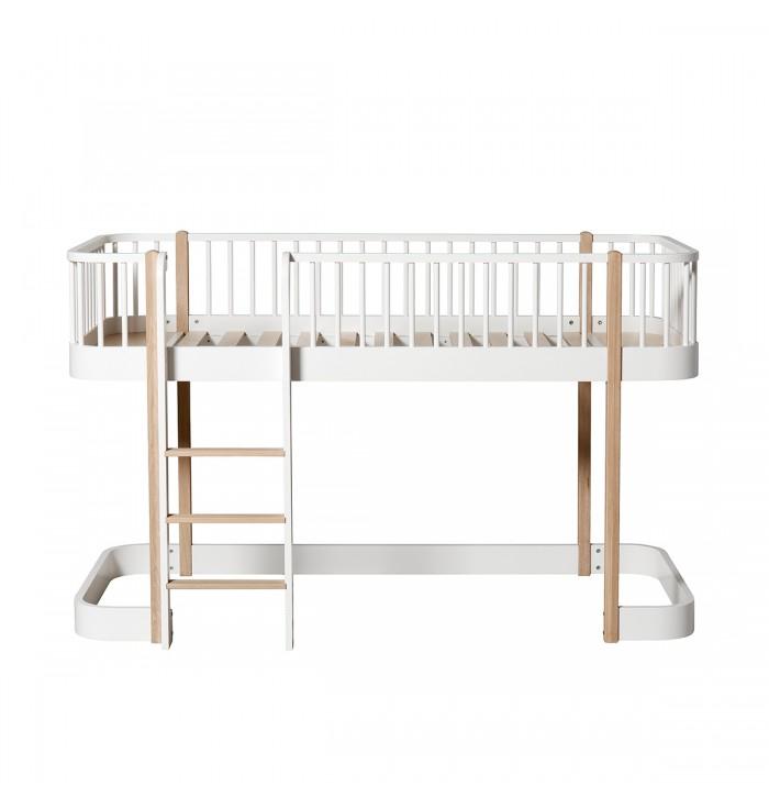Wood Low Loft bed - Oliver Furniture