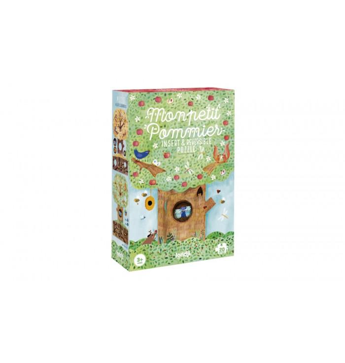 puzzle reversibile 20 pezzi - Mon petit pommier - Londji
