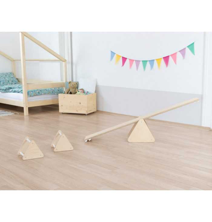 Montessori balance set for children TRIΔNGLES - Benlemi