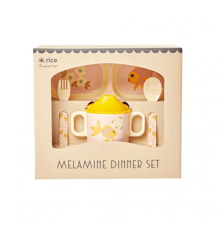 MELAMINE BABY DINNER SET - goldfish