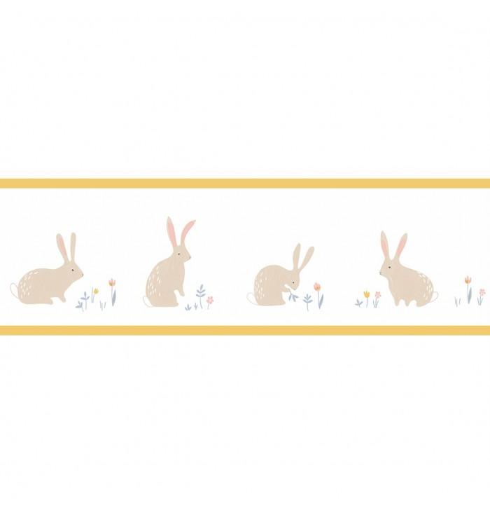 Bordo in carta da parati Happy Dreams - Bunny