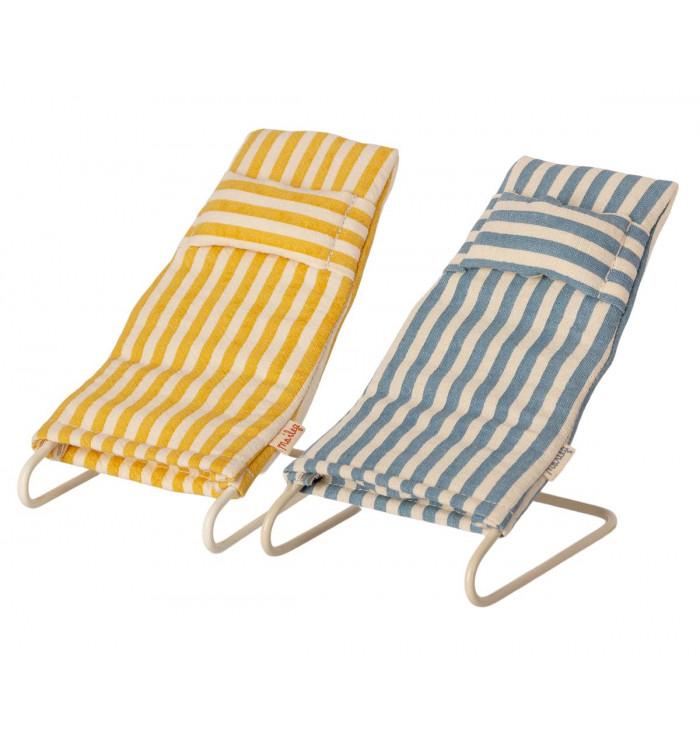 Coppia di sdraio da spiaggia per topolini - Maileg