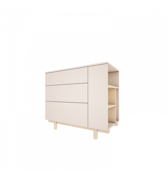 Chest of drawers Basic - Wood Luck