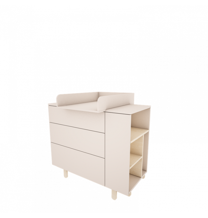 Changing station for Chest of drawers Basic - Wood Luck