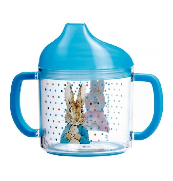 Bicchiere  con manici e beccuccio trasparente - Peter Rabbit - Petit Jour Paris