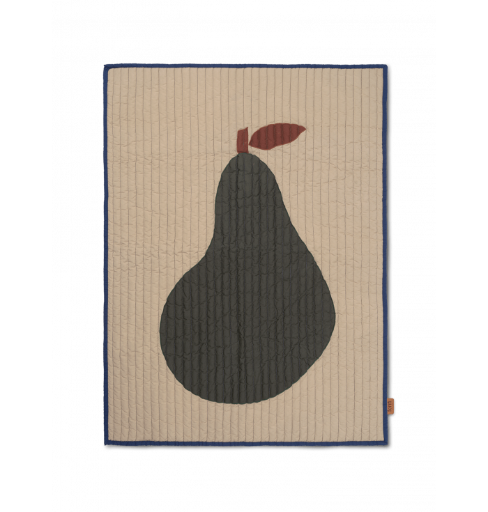 Pear quilted blanket - Ferm Living