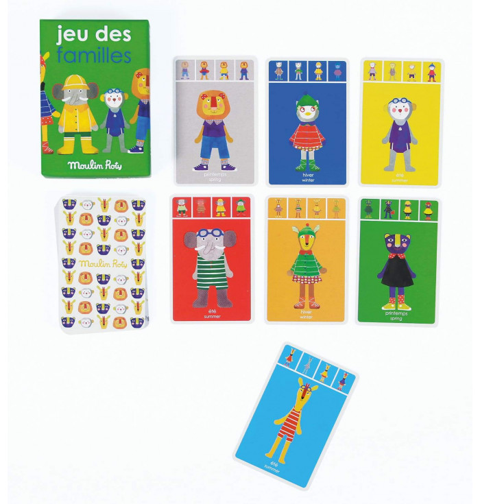 Gioco di carte le 7 famiglie - Moulin Roty