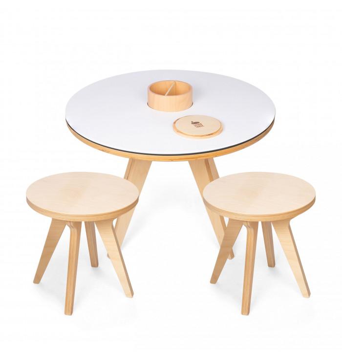 Set Drawin' table - tavolo+2 sgabelli