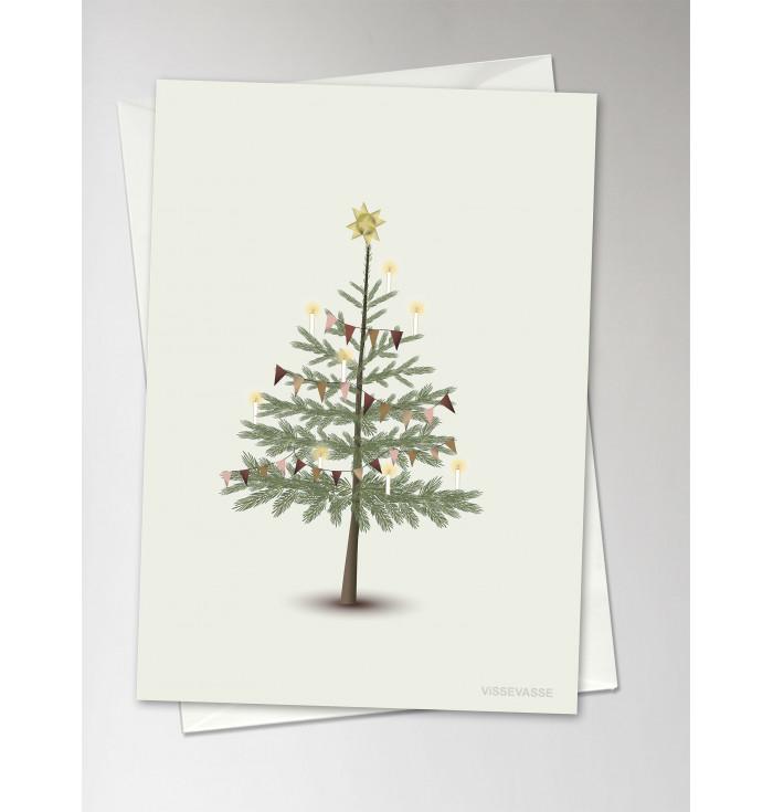 Greeting card The Christmas tree  - Vissevasse