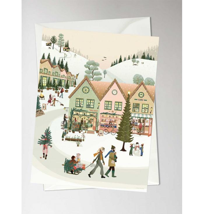 Greeting card White Christmas - Vissevasse