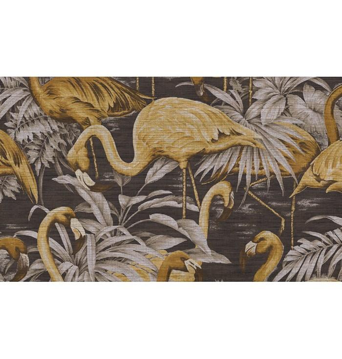 Wallpaper Curiosa - Flamingo - Arte