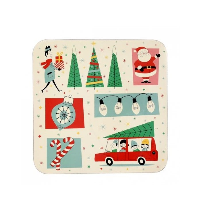 Christmas set with placemats and coasters