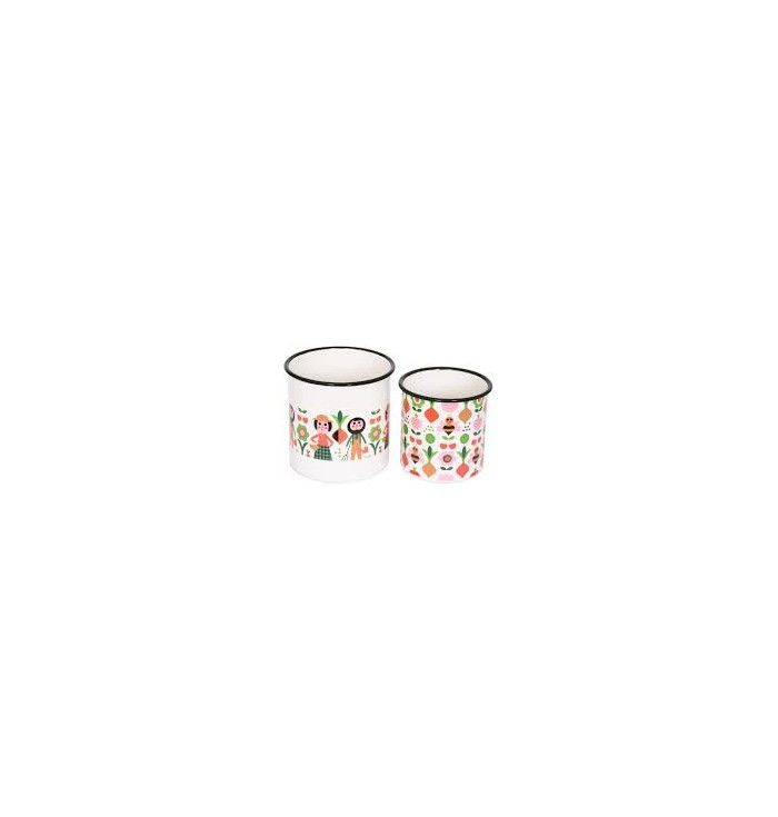 Set of tin containers - Omm
