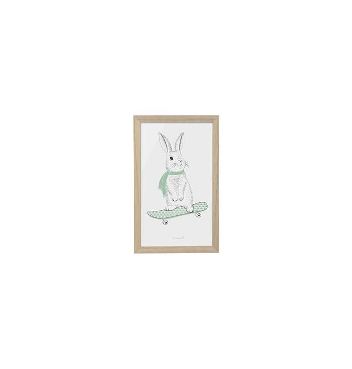 Frame - Rabbit On Skateboard - Bloomingville