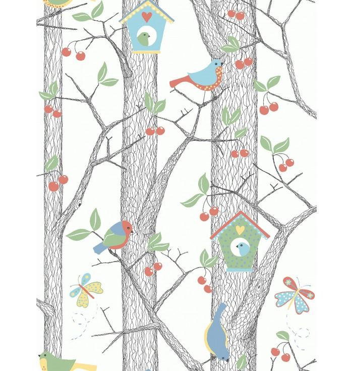 Wallpaper Cherry Friends - Borastapeter