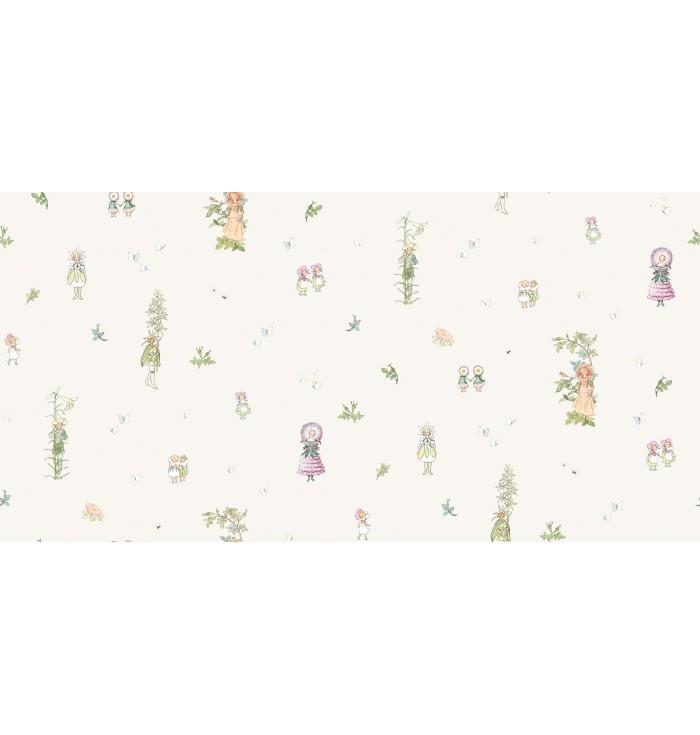 Wallpaper - Elsa Beskow Blomsterfesten - Borastapeter