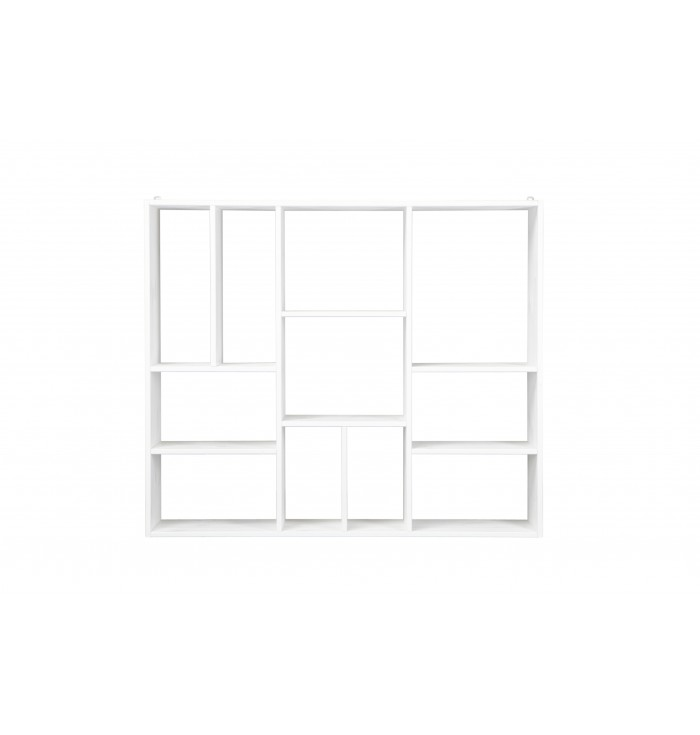 Wall Shelf Xl White 11 Compartments - Woood