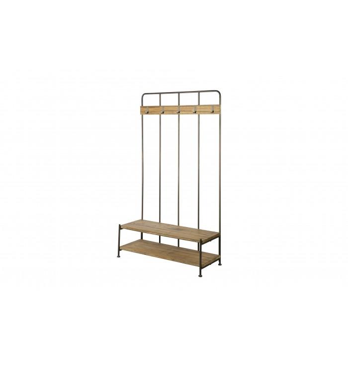 Giro coat rack with bench