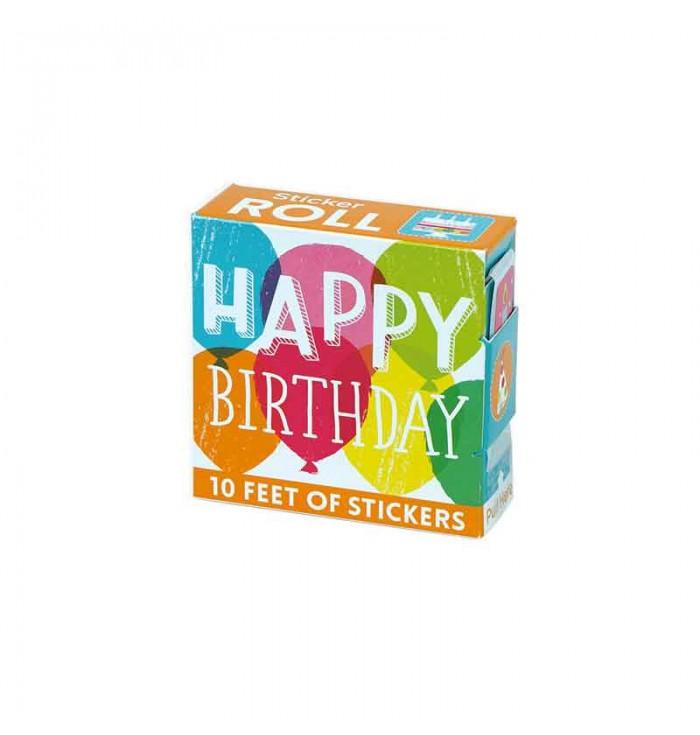 Rotolo di sticker - Happy Birthday