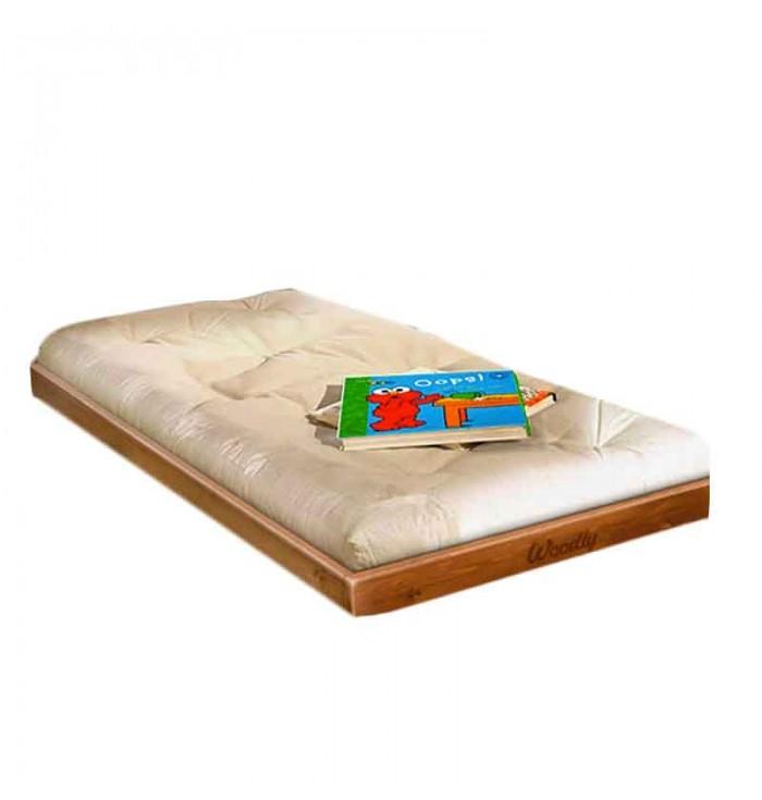 Lettino Montessori Puro small con futon - Woodly